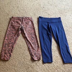 Bundle of 2 Capri leggings used condition sz XS